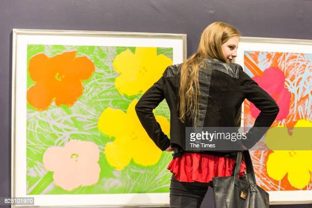 Wilmarie Deetlefs during the opening of the Andy Warhol exhibition at the Wits Art Museum on July 26 2017 in Johannesburg South Africa The exhibition...