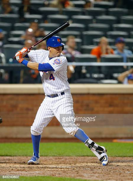 Wilmer Flores of the New York Mets in action against the Miami Marlins during a game at Citi Field on September 1 2016 in the Flushing neighborhood...