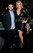 Wilmer Valderrama and Angeline Rose Troy attend CineDopes Web Series Premiere And Launch Party at Busby's East on November 18 2014 in Los Angeles...