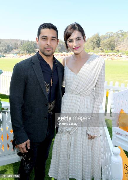 Wilmer Valderrama and Camilla Belle at the Eighth Annual Veuve Clicquot Polo Classic on October 14 2017 in Los Angeles California