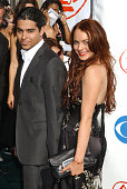 Wilmer Valderrama and Lindsay Lohan during The 5th Annual Latin GRAMMY Awards Arrivals at Shrine Auditorium in Los Angeles California United States