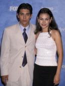 Wilmer Valderrama and Mila Kunis during The 1st Annual Teen Choice Awards at Barker Hangar in Santa Monica California United States