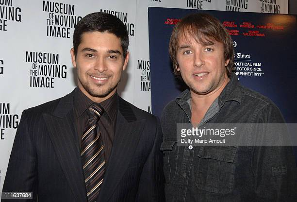 Wilmer Valderrama and Richard Linklater Director during 'Fast Food Nation' New York City Premiere at Museum of the Moving Image in New York City New...