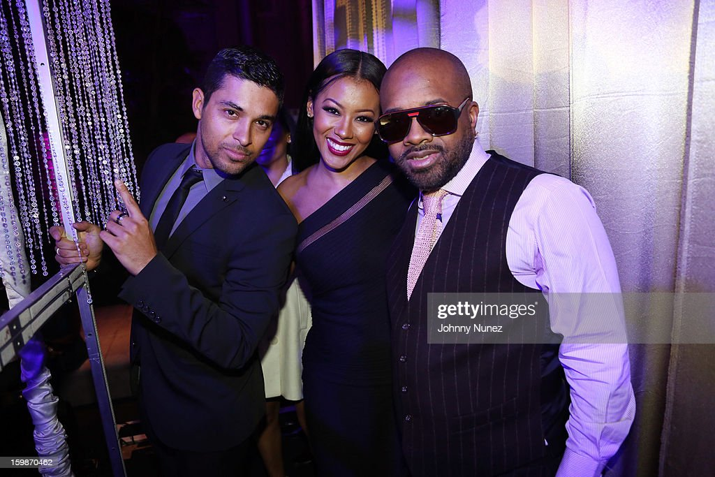 Wilmer Valderrama, Denyce Lawton, and Jermaine Dupri attend the 2013 BET Networks Inaugural Gala at Smithsonian National Museum Of American History on January 21, 2013 in Washington, United States.