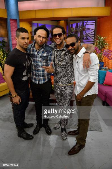 Wilmer ValderramaSensato Reek Sky Blu and Reek on the set of Despierta America at Univision Headquarters on October 24 2013 in Miami Florida
