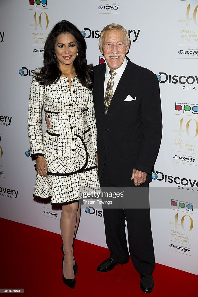 Wilnelia Forsyth and Sir <a gi-track='captionPersonalityLinkClicked' href=/galleries/search?phrase=Bruce+Forsyth&family=editorial&specificpeople=158119 ng-click='$event.stopPropagation()'>Bruce Forsyth</a> attends the Broadcasting Press Guild Awards sponsored by The Discovery Channel at Theatre Royal on March 28, 2014 in London, England.