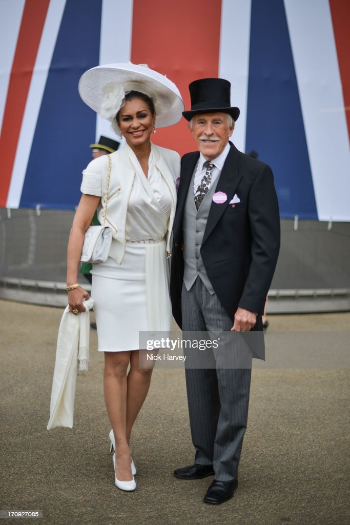 Wilnelia Merced and Bruce Forsyth attend Ladies day on Day 3 of Royal Ascot at Ascot Racecourse on June 20, 2013 in Ascot, England.