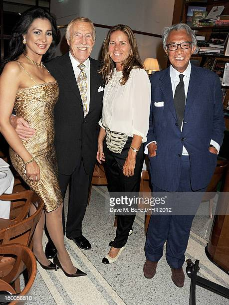 Wilnelia Merced Sir Bruce Forsyth Lucy Tang and Sir David Tang attend as Naomi Campbell hosts an Olympic Celebration Dinner in partnership with...