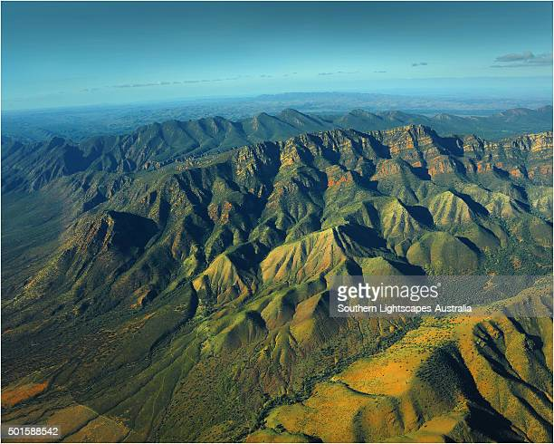 Wilpena Pound from the air, Flinders Ranges,South Australia.