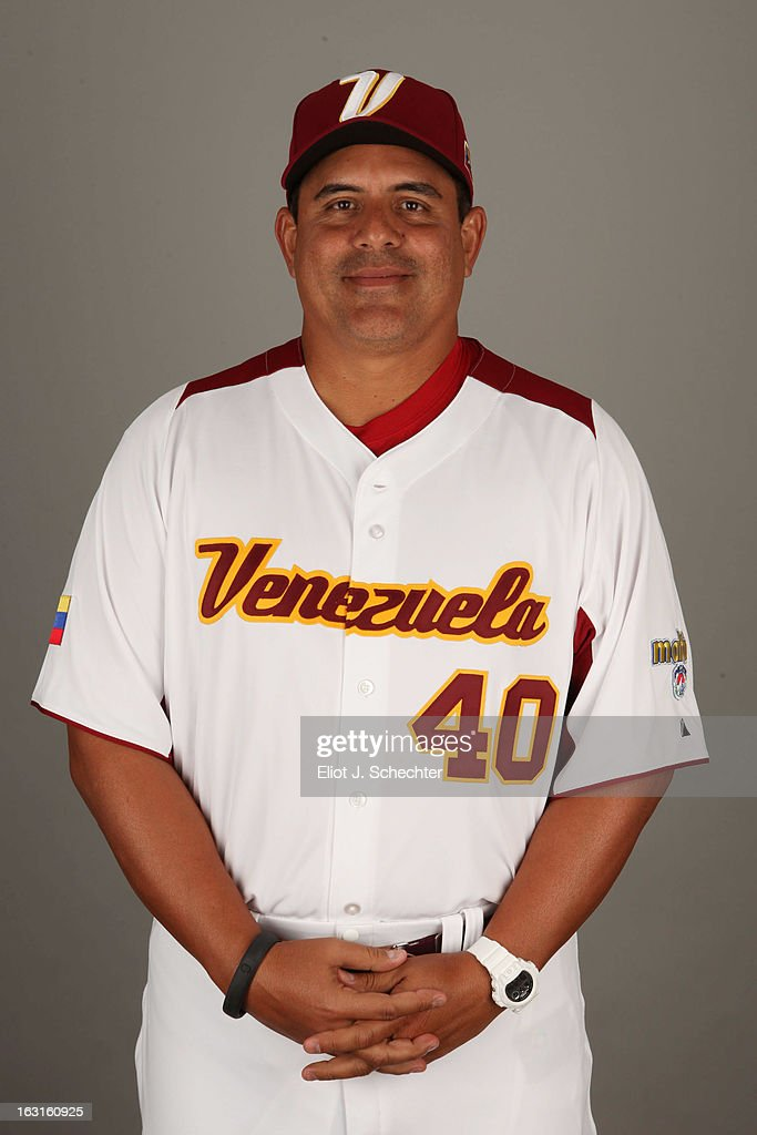 Wilson Alvarez #40 of Team Venezuela poses for a headshot for the 2013 World Baseball Classic at Roger Dean Stadium on Monday, March 4, 2013 in Jupiter, Florida.