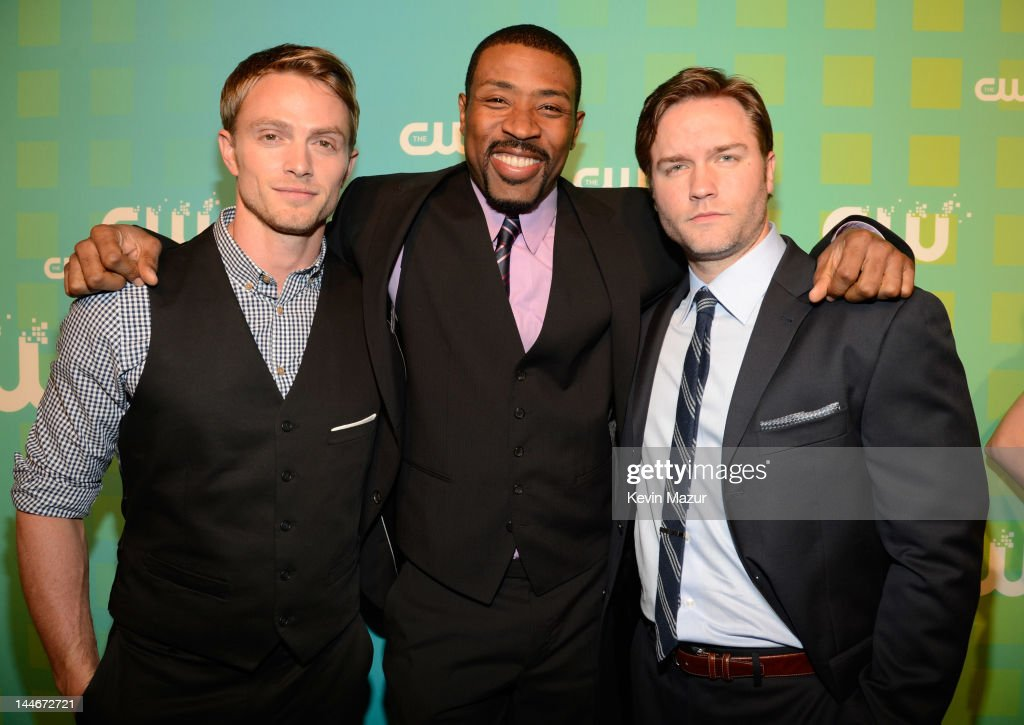 Wilson Bethel, Cress Williams and Scott Porter attend the CW Network's 2012 Upfront at The London Hotel on May 17, 2012 in New York City.