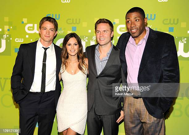 Wilson Bethel Rachel Bilson Scott Porter and Cress Williams attends the CW Network's 2011 Upfront at Jazz at Lincoln Center on May 19 2011 in New...