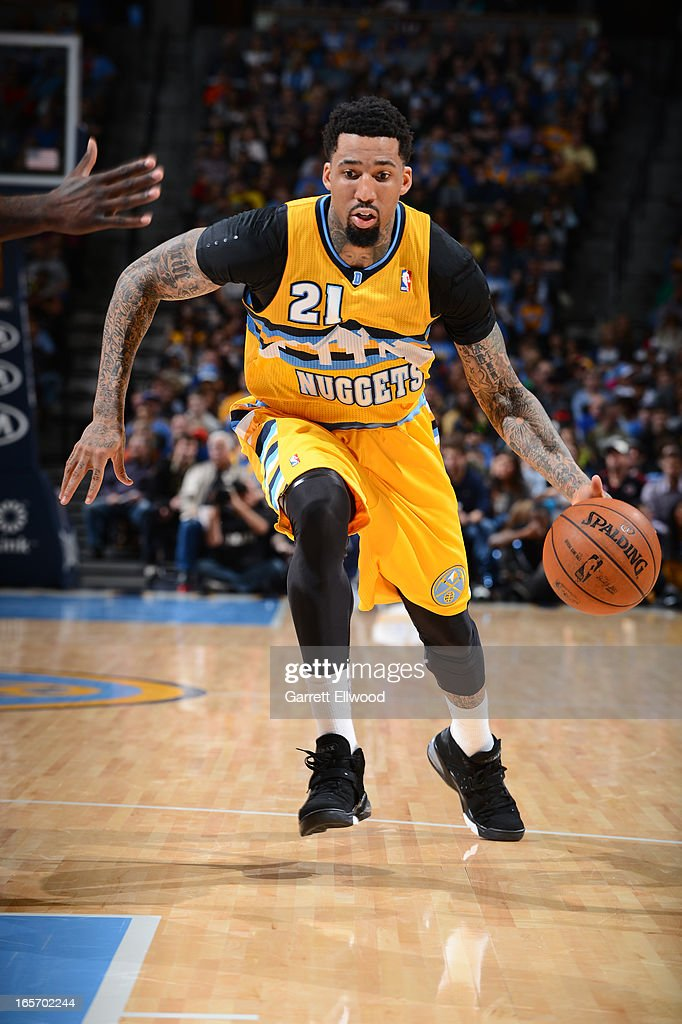 <a gi-track='captionPersonalityLinkClicked' href=/galleries/search?phrase=Wilson+Chandler&family=editorial&specificpeople=809324 ng-click='$event.stopPropagation()'>Wilson Chandler</a> #21 of the Denver Nuggets drives to the basket against the Brooklyn Nets on March 29, 2013 at the Pepsi Center in Denver, Colorado.