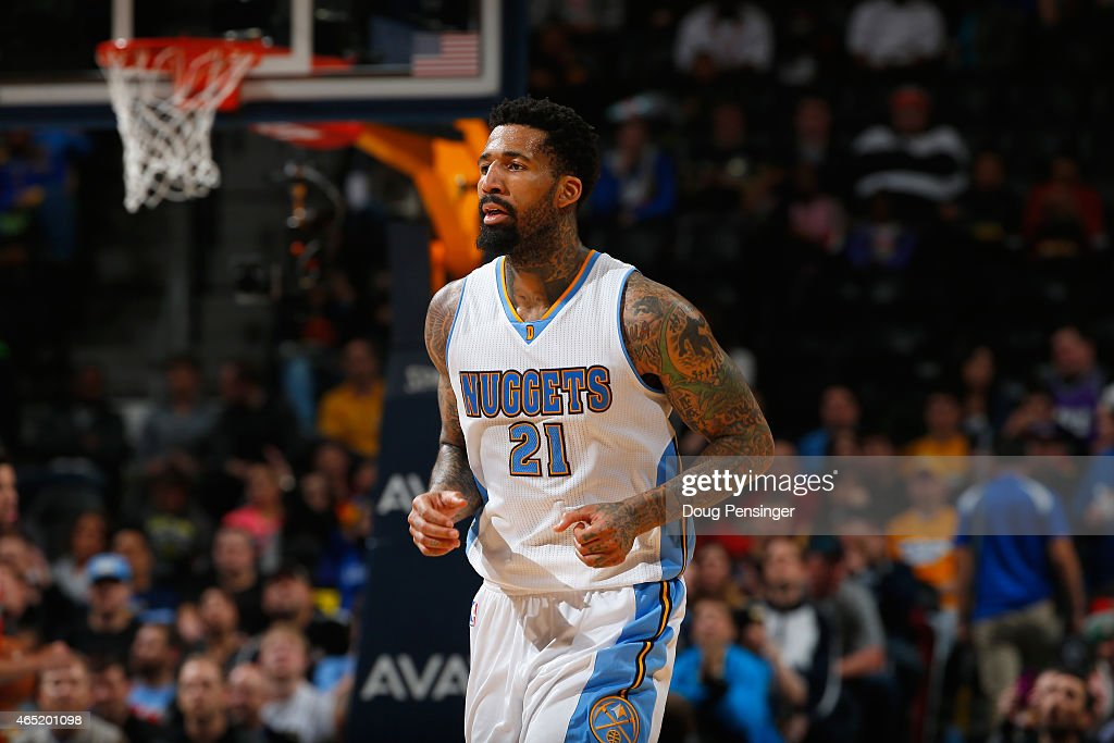 Wilson Chandler of the Denver Nuggets faces the Milwaukee Bucks at Pepsi Center on March 3 2015 in Denver Colorado The Nuggets defeated the Bucks...