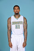 Wilson Chandler of the Denver Nuggets pose for portraits during NBA Media Day on September 23 2014 at the Pepsi Center in Denver Colorado NOTE TO...