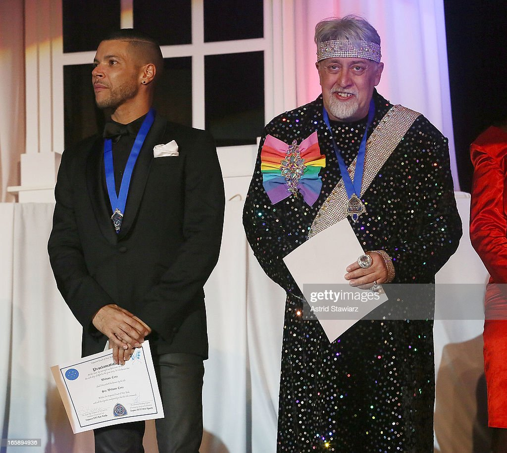 <a gi-track='captionPersonalityLinkClicked' href=/galleries/search?phrase=Wilson+Cruz&family=editorial&specificpeople=660625 ng-click='$event.stopPropagation()'>Wilson Cruz</a> and Gilbert Baker, creator of the rainbow flag attends the 27th Annual Night Of A Thousand Gowns at the Hilton New York on April 6, 2013 in New York City.