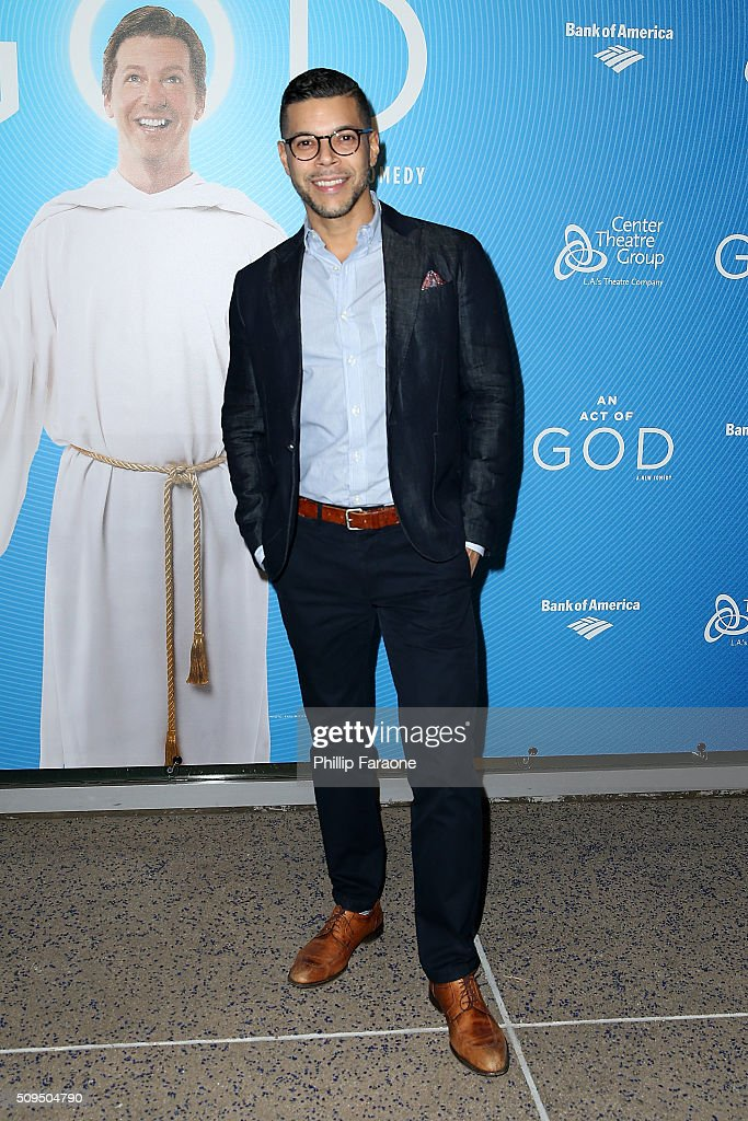 Wilson Cruz attends opening night of 'An Act of God' at Ahmanson Theatre on February 10 2016 in Los Angeles California