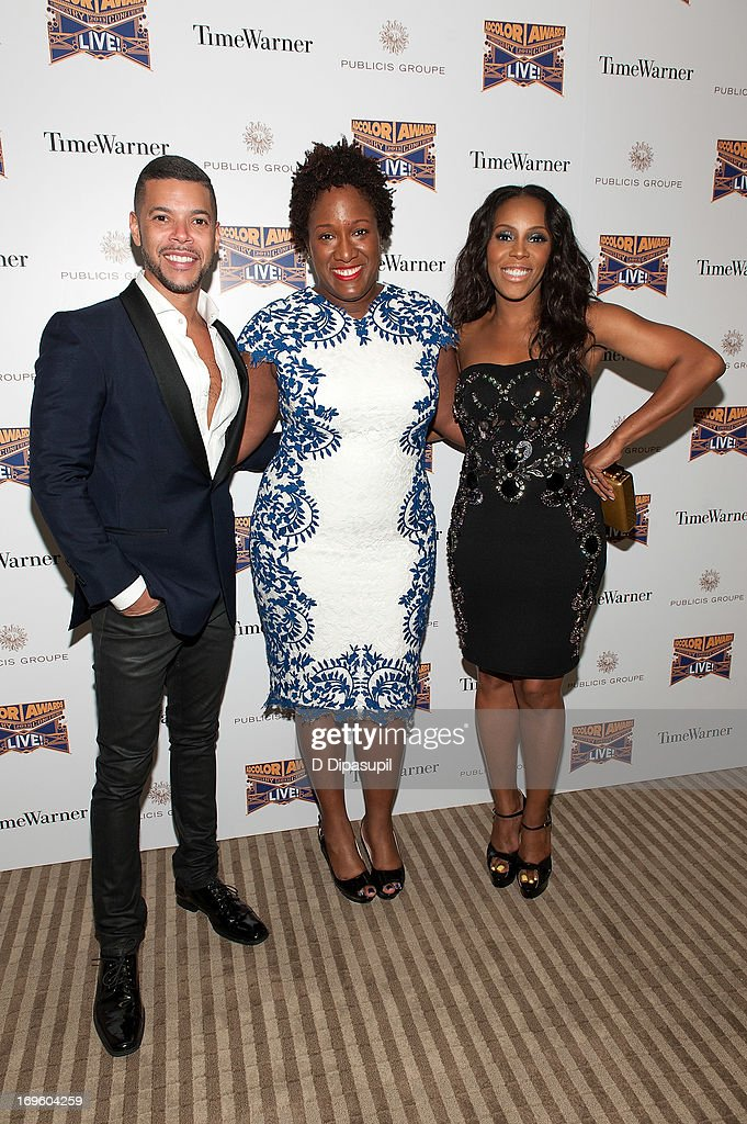<a gi-track='captionPersonalityLinkClicked' href=/galleries/search?phrase=Wilson+Cruz&family=editorial&specificpeople=660625 ng-click='$event.stopPropagation()'>Wilson Cruz</a>, Tiffany R. Warren, and <a gi-track='captionPersonalityLinkClicked' href=/galleries/search?phrase=June+Ambrose&family=editorial&specificpeople=619410 ng-click='$event.stopPropagation()'>June Ambrose</a> attend Adcolor Live 2013! at Time Warner Theater on May 28, 2013 in New York City.