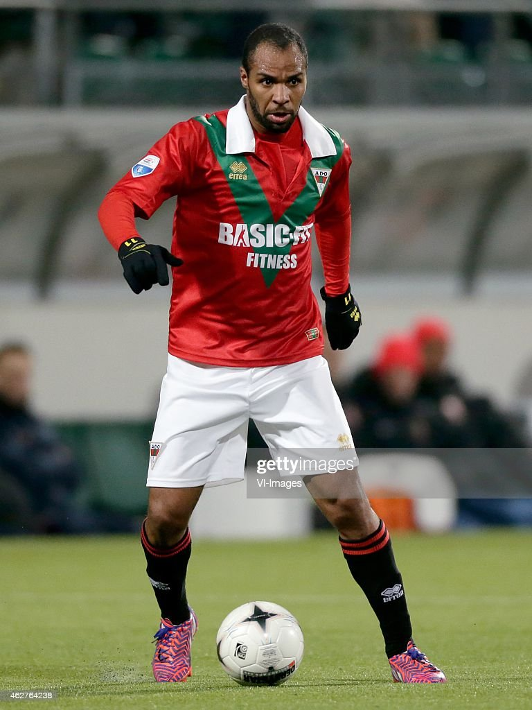 <a gi-track='captionPersonalityLinkClicked' href=/galleries/search?phrase=Wilson+Eduardo&family=editorial&specificpeople=7150735 ng-click='$event.stopPropagation()'>Wilson Eduardo</a> of ADO Den Haag during the Dutch Eredivisie match between ADO Den Haag and FC Twente at Kyocera stadium on February 4, 2015 in The Hague, The Netherlands