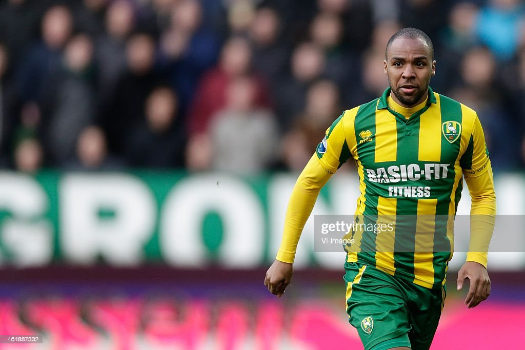 <a gi-track='captionPersonalityLinkClicked' href=/galleries/search?phrase=Wilson+Eduardo&family=editorial&specificpeople=7150735 ng-click='$event.stopPropagation()'>Wilson Eduardo</a> of ADO Den Haag during the Dutch Eredivisie match between FC Groningen and ADO Den Haag at Euroborg on March 01, 2015 in Groningen, The Netherlands