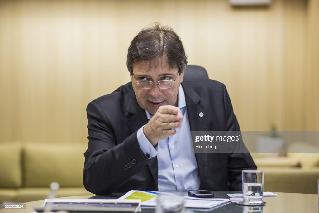 Wilson Ferreira, chief executive officer of Centrais Eletricas Brasileiras SA (Eletrobras), speaks during an interview in Rio de Janiero, Brazil, on Tuesday, Aug. 15, 2017. Centrais Eletricas Brasileiras SA generates, transmits, and markets electricity through regional companies in Brazil. Photographer: Lianne Milton/Bloomberg via Getty Images