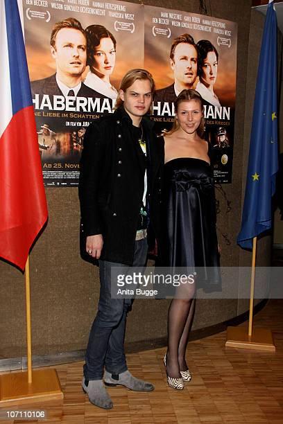 Wilson Gonzalez Ochsenknecht and Franziska Weisz attend the 'Habermann' Berlin premiere at the Czech embassy on November 24 2010 in Berlin Germany