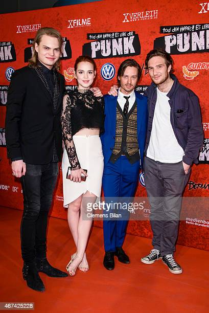 Wilson Gonzalez Ochsenknecht Emilia Schuele Tom Schilling and Frederick Lau attend the premiere of the film 'Tod den Hippies Es lebe der Punk' at UCI...