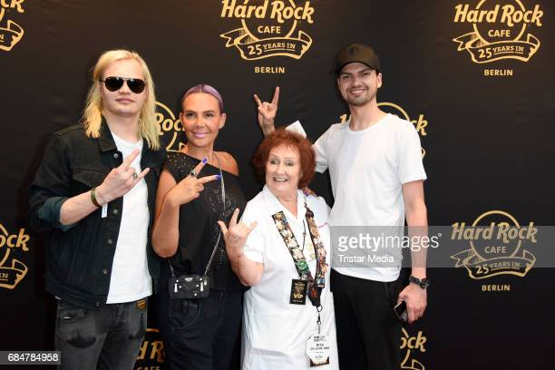 Wilson Gonzalez Ochsenknecht Natascha Ochsenknecht Rita Gilligan and Jimi Blue Ochsenknecht attend the 25th anniversary celebration at Hard Rock Cafe...