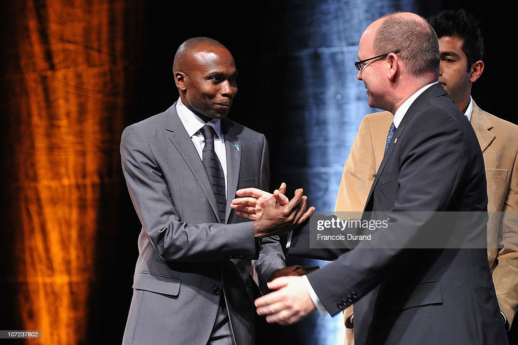 <a gi-track='captionPersonalityLinkClicked' href=/galleries/search?phrase=Wilson+Kipketer&family=editorial&specificpeople=162807 ng-click='$event.stopPropagation()'>Wilson Kipketer</a> (L) and <a gi-track='captionPersonalityLinkClicked' href=/galleries/search?phrase=Prince+Albert+II+of+Monaco&family=editorial&specificpeople=201707 ng-click='$event.stopPropagation()'>Prince Albert II of Monaco</a> attend the Opening Ceremony of the Peace & Sport 4th International Forum on December 1, 2010 in Monaco, Monaco.