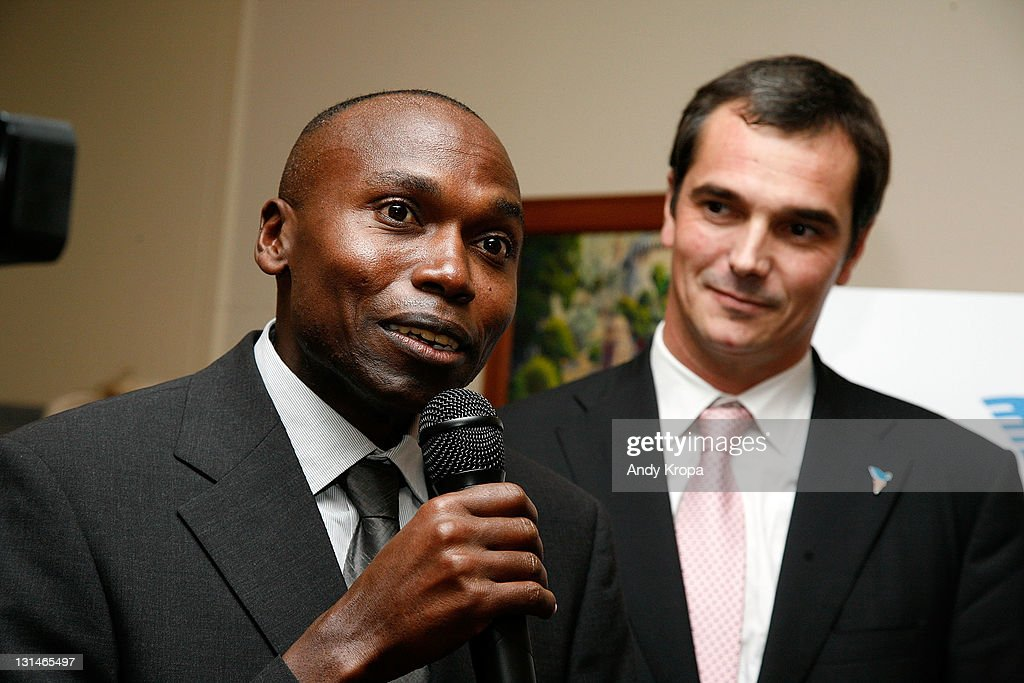 <a gi-track='captionPersonalityLinkClicked' href=/galleries/search?phrase=Wilson+Kipketer&family=editorial&specificpeople=162807 ng-click='$event.stopPropagation()'>Wilson Kipketer</a> and Yann Coelenbier attend a hosted VIP reception by Consul General of Monaco in New York, Maguy Maccario, for Champions of Peace and special guests from the Monaco-based Peace & Sports attending their first ING New York City Marathon on November 4, 2011 in New York City.