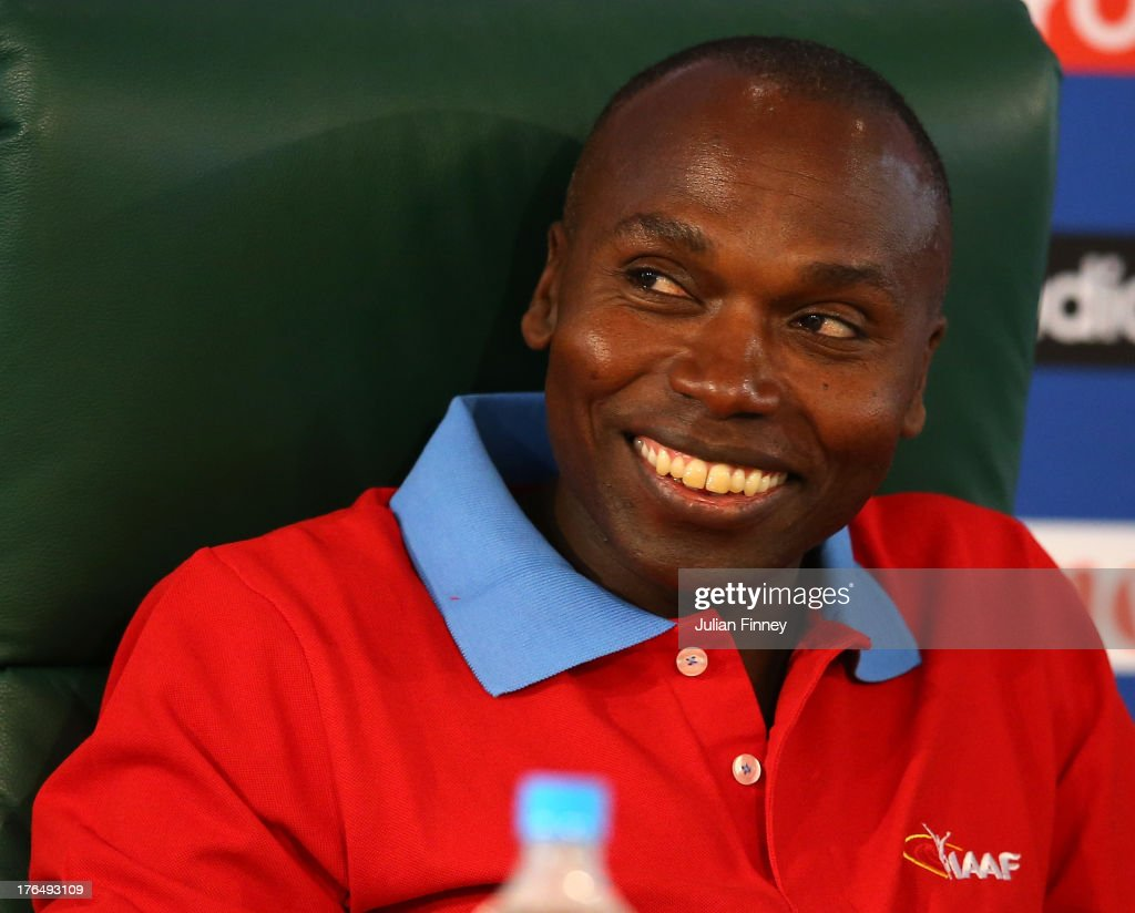 <a gi-track='captionPersonalityLinkClicked' href=/galleries/search?phrase=Wilson+Kipketer&family=editorial&specificpeople=162807 ng-click='$event.stopPropagation()'>Wilson Kipketer</a> attends the IAAF Ambassador Programme Press Conference during Day Five of the 14th IAAF World Athletics Championships Moscow 2013 at Luzhniki Stadium on August 14, 2013 in Moscow, Russia.
