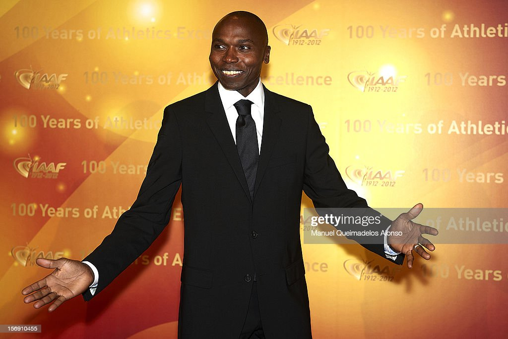<a gi-track='captionPersonalityLinkClicked' href=/galleries/search?phrase=Wilson+Kipketer&family=editorial&specificpeople=162807 ng-click='$event.stopPropagation()'>Wilson Kipketer</a> of Denmark attends the IAAF Centenary Gala at the Museo Nacional d'Art de Catalunya on November 24, 2012 in Barcelona, Spain.