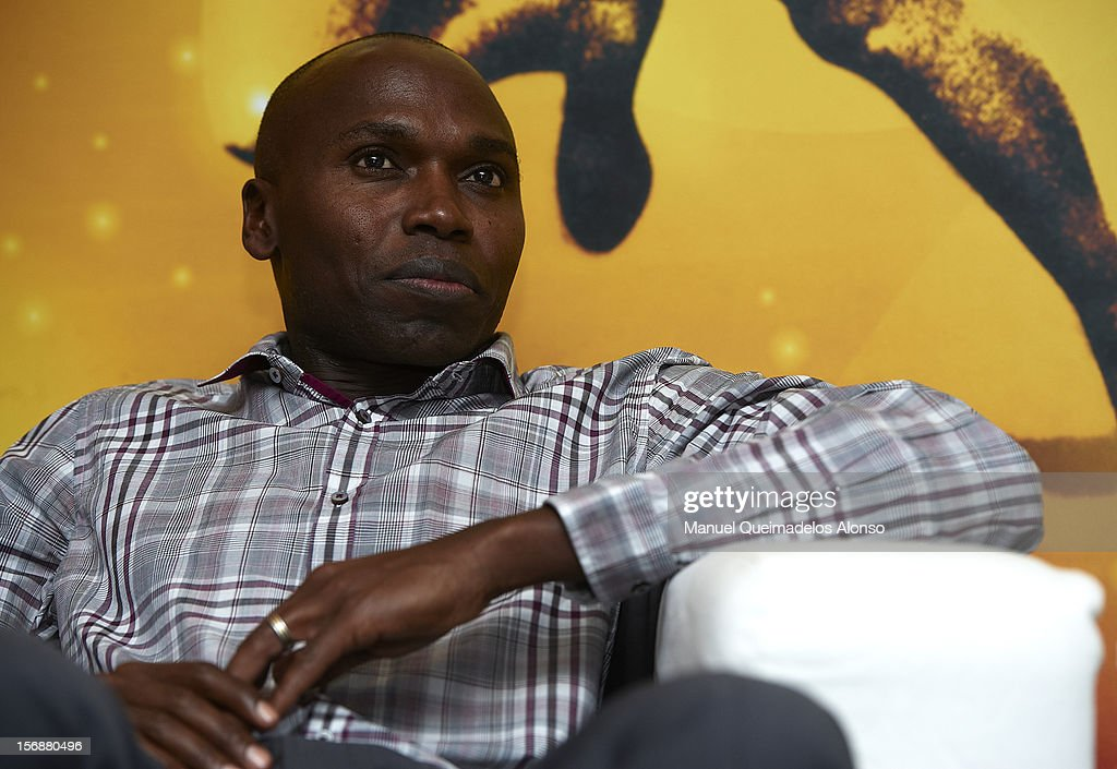 Wilson Kipketer of Denmark in press conference during the preview day of the IAAF athlete of the year award at the IAAF Centenary Gala on November 23, 2012 in Barcelona, Spain.