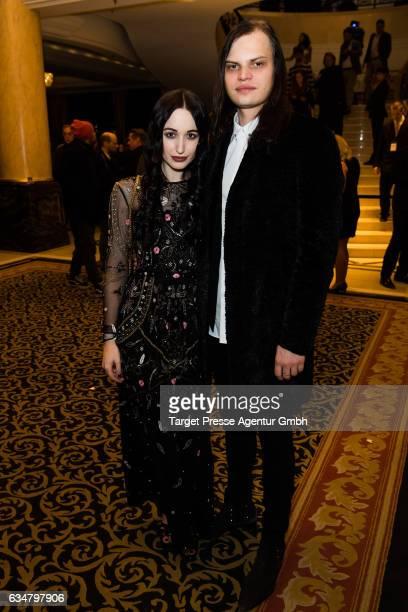 Wilson Ochsenknecht and Lorraine Bedros attend the Medienboard BerlinBrandenburg Reception during the 67th Berlinale International Film Festival...