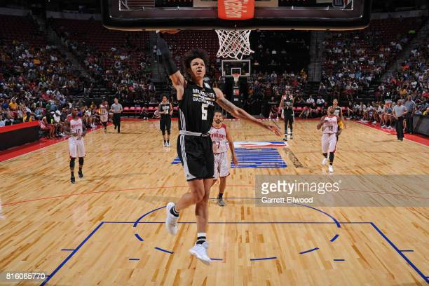 J Wilson of the Milwaukee Bucks dunks against the Cleveland Cavaliers on July 7 2017 at the Thomas Mack Center in Las Vegas Nevada NOTE TO USER User...