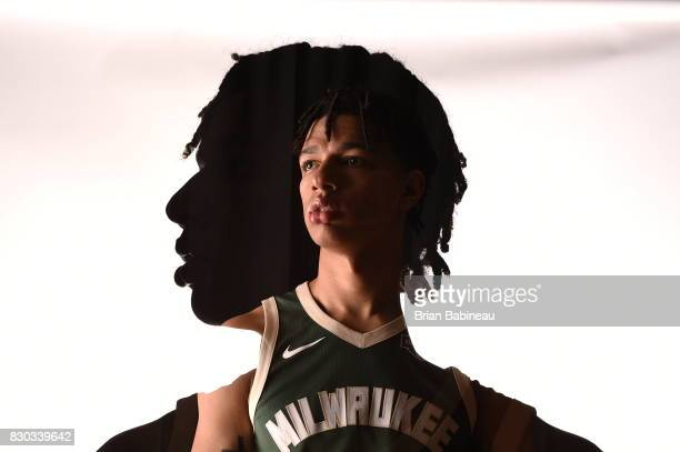 Wilson of the Milwaukee Bucks poses for a photo during the 2017 NBA Rookie Photo Shoot at MSG training center on August 11 2017 in Tarrytown New York...
