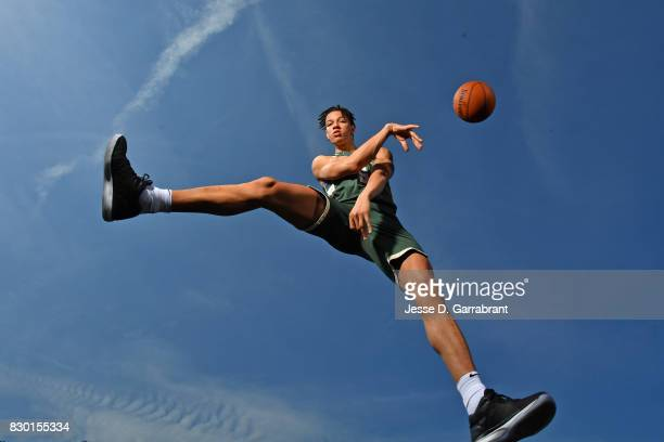 Wilson of the Milwaukee Bucks poses for a portrait during the 2017 NBA rookie photo shoot on August 11 2017 at the Madison Square Garden Training...