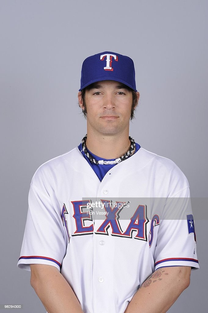 C.J. Wilson of the Texas Rangers poses during Photo Day on Tuesday, March 2, 2010 at Surprise Stadium in Surprise, Arizona.