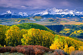 Autumn aspens and Wilson Peak in the San Miguel Range - southwestern Colorado.