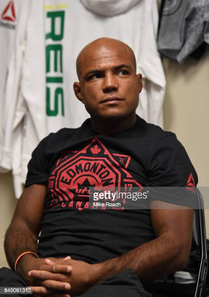 Wilson Reis of Brazil gets his hands wrapped backstage during the UFC 215 event inside the Rogers Place on September 9 2017 in Edmonton Alberta Canada