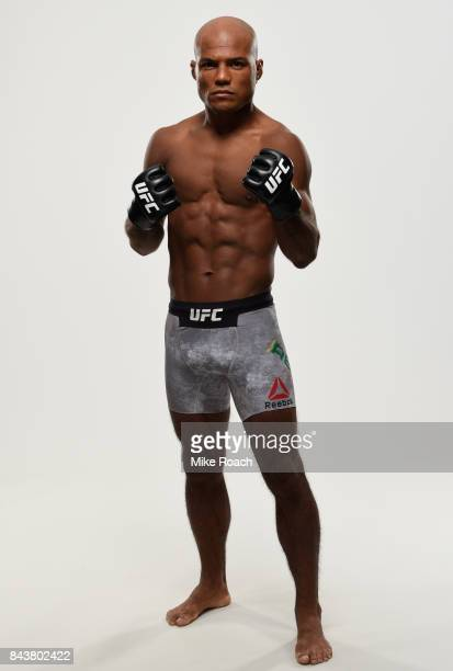 Wilson Reis of Brazil poses for a portrait during a UFC photo session on September 7 2017 in Edmonton Alberta Canada