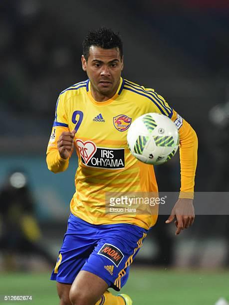 Wilson Rodrigues Fonseca of Vegalta Sendai in action during the JLeague match between Yokohama FMarinos and Vegalta Sendai at the Nissan Stadium on...