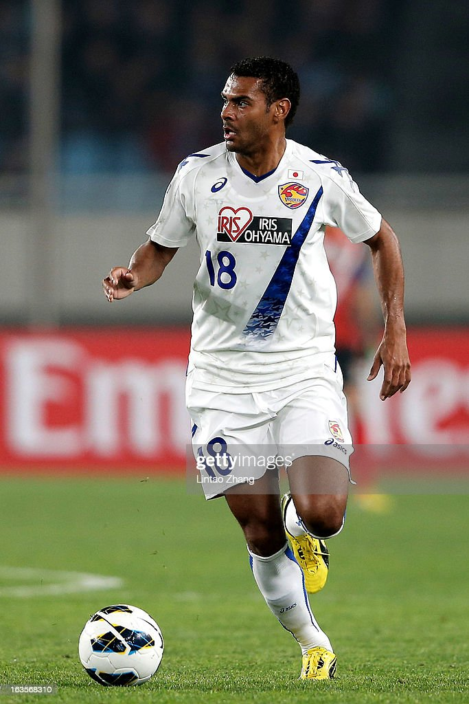 Wilson Rodrigues Fonseca of Vegalta Sendaion controls the ball during the AFC Champions League match between Jiangsu Sainty and Vegalta Sendai at Nanjing Olympic Sports Center Stadium on March 12, 2013 in Nanjing, China.