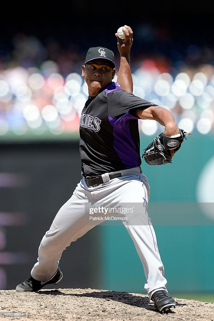 <a gi-track='captionPersonalityLinkClicked' href=/galleries/search?phrase=Wilton+Lopez&family=editorial&specificpeople=4901786 ng-click='$event.stopPropagation()'>Wilton Lopez</a> #59 of the Colorado Rockies throws a pitch in the ninth inning during a game against the Washington Nationals at Nationals Park on June 22, 2013 in Washington, DC.