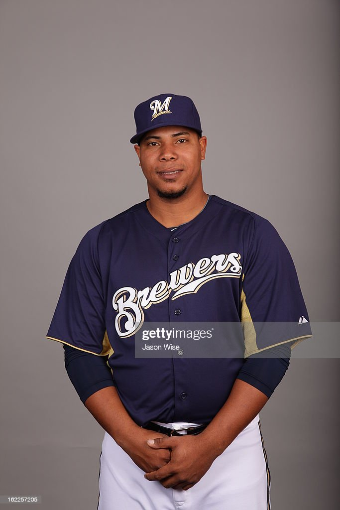 Wily Peralta #60 of the Milwaukee Brewers poses during Photo Day on February 17, 2013 at Maryvale Baseball Park in Phoenix, Arizona.