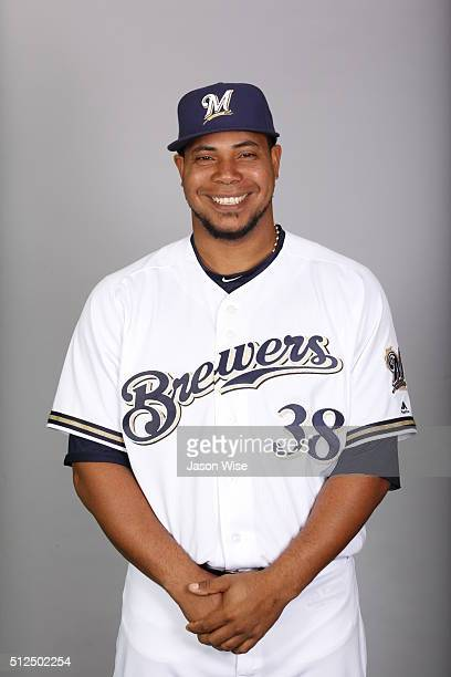 Wily Peralta of the Milwaukee Brewers poses during Photo Day on Friday February 26 2016 at Maryvale Baseball Park in Phoenix Arizona