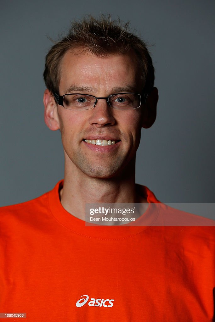 Wim de Deyne, poses during the NOC*NSF (Nederlands Olympisch Comite * Nederlandse Sport Federatie) Sochi athletes and officials photo shoot for Asics at the Spoorwegmuseum on May 4, 2013 in Utrecht, Netherlands.