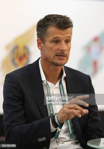 Wim Jonk Cruyff Football CEO attends day 1 of the Soccerex Global Convention at Manchester Central Convention Complex on September 4 2017 in...