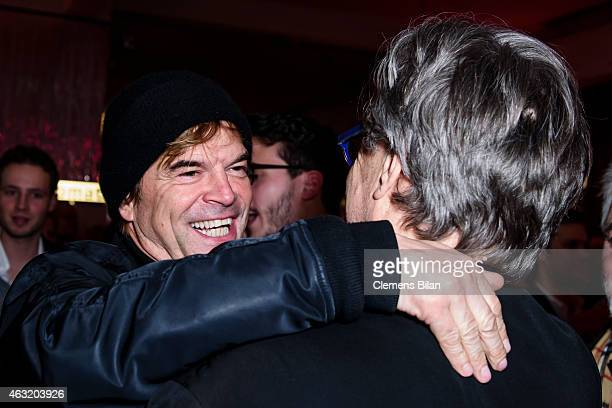 Wim Wenders and Campino attend the Wim Wenders Party during the 65th Berlinale International Film Festival at Claerchens Ballhaus on February 11 2015...