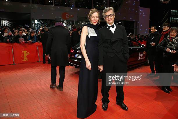 Wim Wenders and Donata Wenders attend the 'Every Thing Will Be Fine' premiere during the 65th Berlinale International Film Festival at Berlinale...